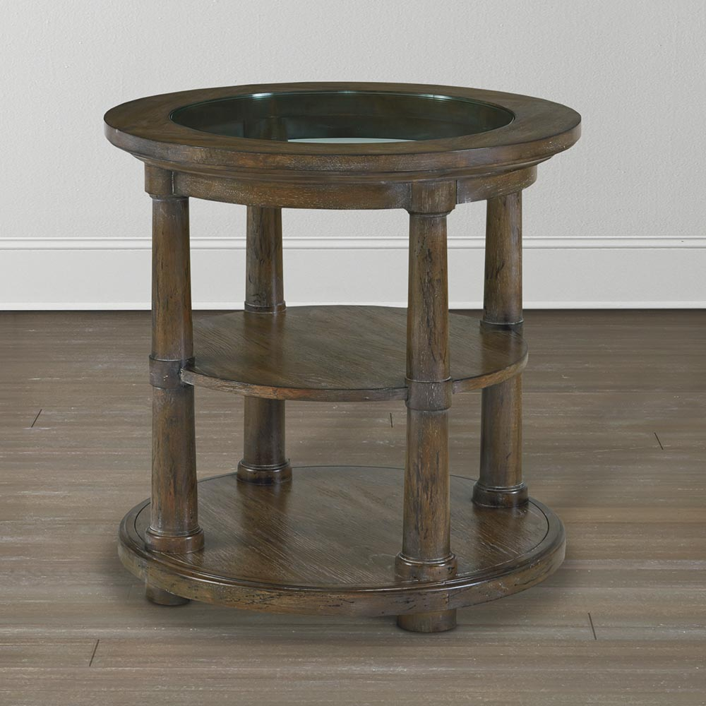 Compass Northern Grey Compass Round Lamp Table