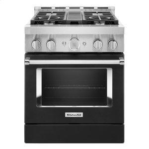 KitchenAidKitchenAid® 30'' Smart Commercial-Style Gas Range with 4 Burners - Imperial Black