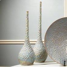Chiseled Birds Egg Vase-Lg