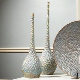 Chiseled Bird's Egg Vase-Sm