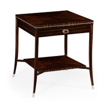 Macassar Ebony End Table with White Brass Detail