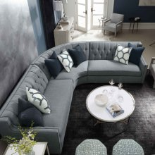Candace Sectional in #44 Antique Nickel