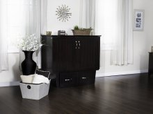 Nantucket Twin Murphy Bed Chest in Espresso with Charging Station