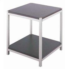 """End Table, Ss/dark Walnut Wood, 22""""LX18""""WX21.5""""H"""