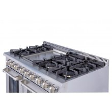 "48"" 6 Burner Stainless Steel Professional Gas Range"