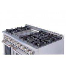 "48"" 6 Burner Stainless Steel Professional Gas Range"