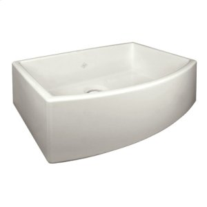 Biscuit Shaws Waterside Single Bowl Fireclay Apron Front Sink Product Image
