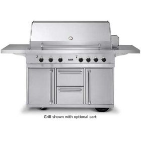 """Stainless Steel 53"""" Ultra-Premium E-Series Grill with TruSear - VGIQ (53"""" wide with three standard 25,000 BTU stainless steel burners, one 30,000 BTU TruSear infrared burner (Natural Gas))"""