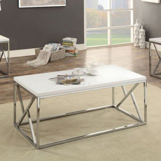 Kuzen 3 Piece Table Set White