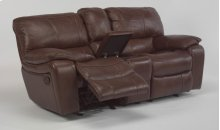 Grandview Leather Gliding Reclining Loveseat with Console