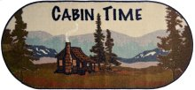 """Cozy Cabin Cabin Time 20""""x44"""" Oval"""