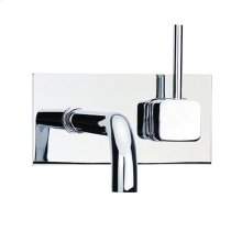 Techno Quadra 25 - Wall Mount Lavatory Faucet - Polished Nickel