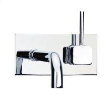Techno Quadra 25 - Wall Mount Lavatory Faucet - Polished Nickel