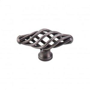 Oval Small Twist Knob 2 1/8 Inch - Pewter
