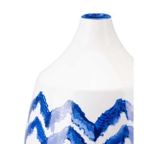 Chevron Bottle Sm Cobalt