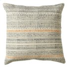Grey Blue Block Print Pillow (Each One Will Vary). Product Image