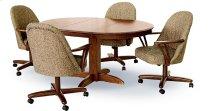 Table Base: Pedestal (walnut) Product Image