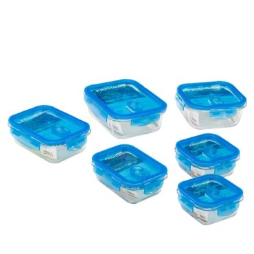 Frigidaire Set of Six Glass Food Storage Containers