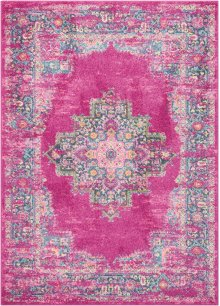 Passion Psn03 Fuchsia Rectangle Rug 5'3'' X 7'3''