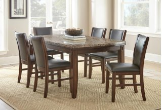 Eileen Brown Marble Top 7 Piece Set