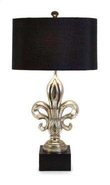Silver Fleur-de-Lis Lamp