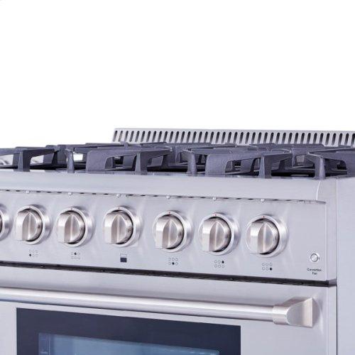 "36"" Pro-style 6 Stainless Steel Burner Gas Range"