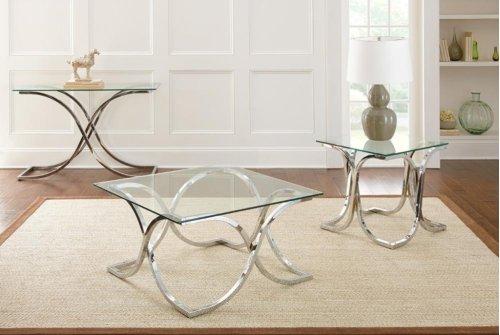 "Leonardo End Table Glass Top 24""x24"" 10mm temp. clear glass"