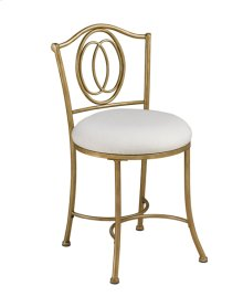 Emerson Vanity Stool - Gold