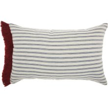 "Life Styles Dr152 Red/white 14"" X 22"" Throw Pillows"