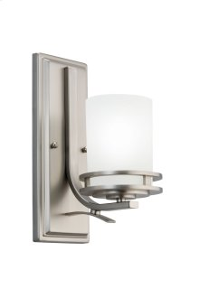Hendrik 1 Light Wall Sconce Brushed Nickel