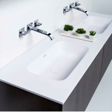 "series 1800 blustone™ double vanity top, 4"" thick, White gloss 71"" x 20 1/4"""