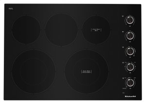 "30"" Electric Cooktop with 5 Elements and Knob Controls - Black Product Image"