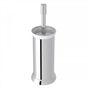 Polished Chrome Perrin & Rowe Holborn Floor Standing Porcelain Toilet Brush Holder