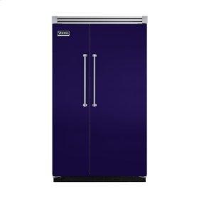 "Cobalt Blue 48"" Quiet Cool™ Side-by-Side Refrigerator/Freezer - VISB Tru-Flush™ (48"" wide)"
