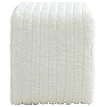 Rhea Ottoman in White