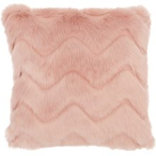 "Faux Fur Vv056 Blush 16"" X 16"" Throw Pillows"