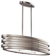 Roswell 3 Light Oval Chandelier Brushed Nickel