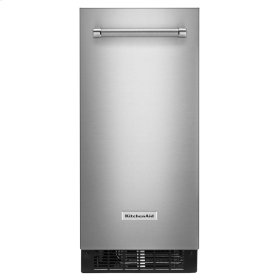 KitchenAid® 15'' Automatic Ice Maker with PrintShield Finish - Stainless Steel with PrintShield™ Finish