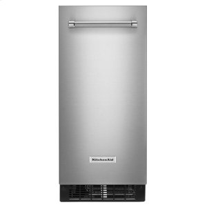 KitchenAid® 15'' Automatic Ice Maker with PrintShield™ Finish - Stainless Steel with PrintShield™ Finish - STAINLESS STEEL WITH PRINTSHIELD(TM) FINISH