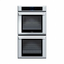 "27"" MASTERPIECE SERIES STAINLESS STEEL   DOUBLE OVEN WITH TRUE CONVECTION (UPPER OVEN ONLY)"