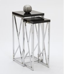 BLACK / CHROME NESTING TABLES