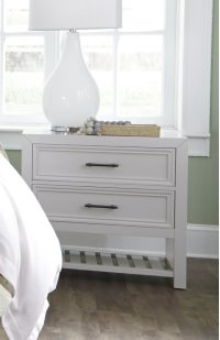 Nightstand - Tuxedo White Finish Product Image