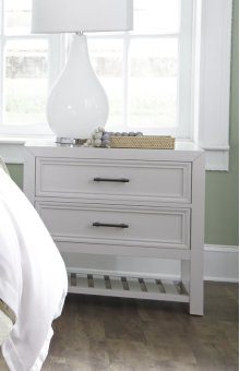 Nightstand - Tuxedo White Finish