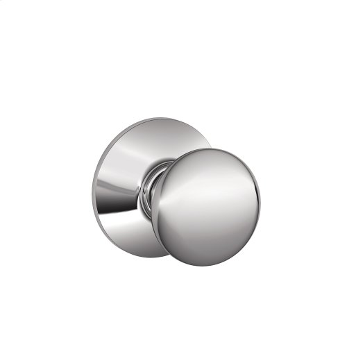 Plymouth Knob Hall & Closet Lock - Bright Chrome