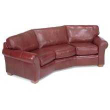 Vail Leather Conversation Sofa