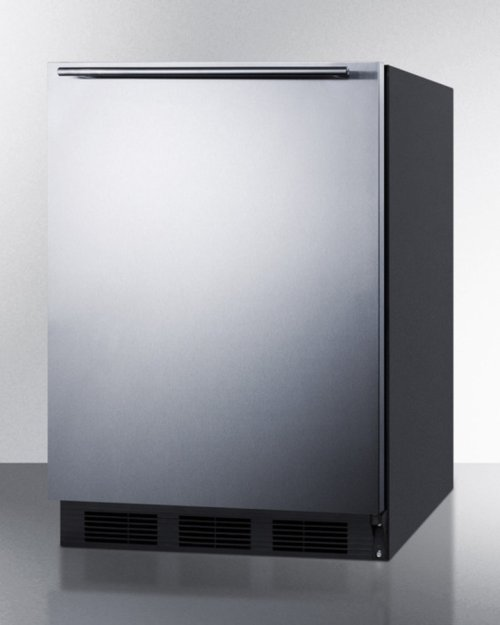 Freestanding Refrigerator-freezer for General Purpose Use, With Dual Evaporator Cooling, Cycle Defrost, Ss Door, Horizontal Handle and Black Cabinet