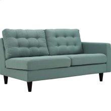 Empress Right-Facing Upholstered Fabric Loveseat in Laguna
