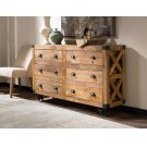 Rustic Six-drawer Accent Cabinet Product Image