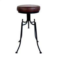 Bar Stool With Leather Seat