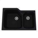 Matte Black Allia Fireclay 2 Bowl Undermount Kitchen Sink Product Image